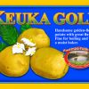 Keuka Gold label. Handsome golden-fleshed potato with great flavor.