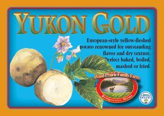 Yukon Gold Label. European style yellow-fleshed potato.