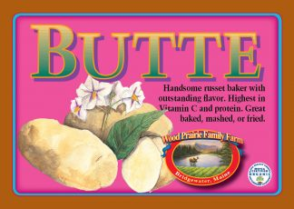 Organic Certified Butte Seed Potatoes