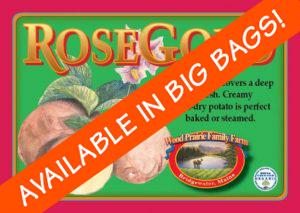 Organic Certified Rose Gold Seed Potatoes