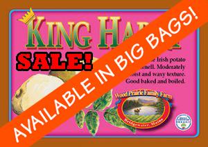 Organic Certified King Harry Seed Potatoes
