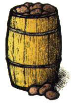 Barrel with 4 Potato Varieties