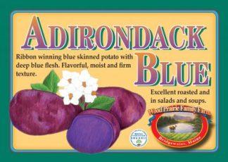 Organic Certified Adirondack Blue Seed Potatoes