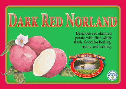 Organic Certified Dark Red Norland Seed Potatoes