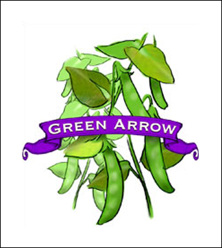 Pea Seed. Organic Green Arrow. Heirloom. Pkt.