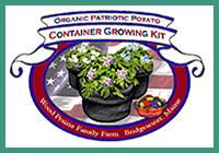 Organic Certified Patriotic Potato Container Growing Kit