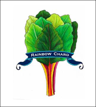 Rainbow Chard label.