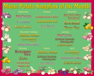 Organic Maine Potato Sampler of the Month Club