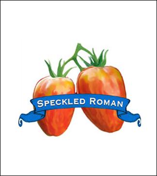 Tomato Seed. Organic Speckled Roman. Pkt.