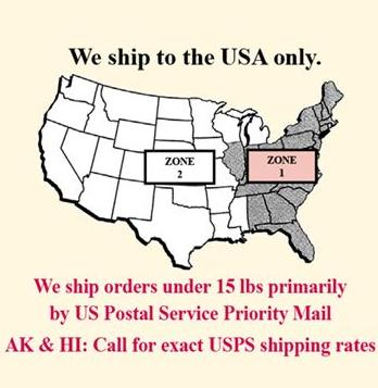 Shipping Zone Chart
