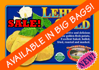 Organic Certified Lehigh Gold Seed Potatoes